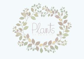 Couronne de plantes vecteur