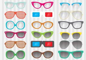 Vecteurs de lunettes de soleil vintage