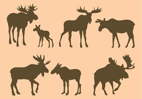 Moose Silhouettes Vectors
