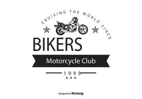 Bikers club logo sjabloon
