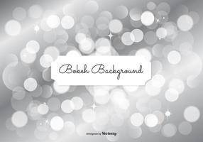 Silver Bokeh Background Illustration vector