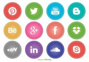 Ensemble d'icônes de médias sociaux