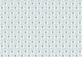 Fish and Chips Pattern Vector
