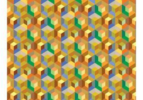 Vector de fondo de patrón de cubo