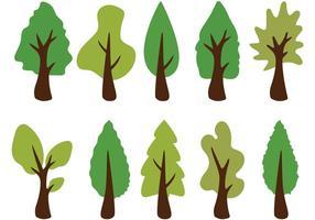 Vecteurs d'arbres de cèdre