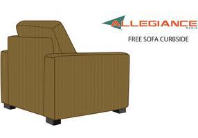 Curbside soffa stol vektor