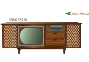 Antieke Stereo and Television Vector