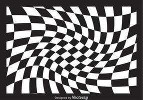 Distorted Checker Board Vector