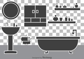 Vectores del cuarto de baño