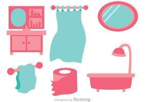 Badezimmer flache Vektoren