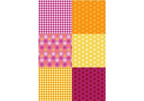 Colorful Romantic Pattern set
