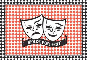 Free Vector Comedy und Tragödie Theater Maske