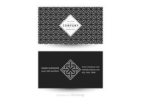 Free Vector Geometric Business Card Template
