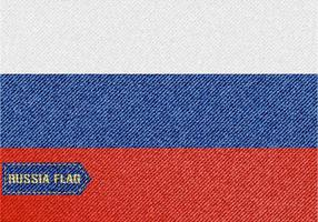 Free Denim Russia Flag Vector