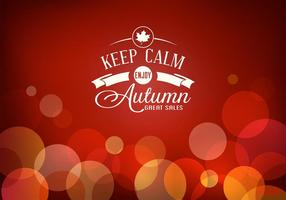Affiche vectorielle gratuite d'automne