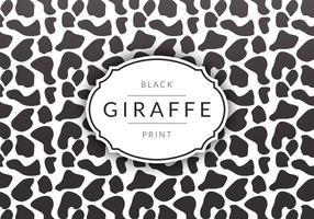 Fond noir de vecteur imprimé de girafe noir gratuit