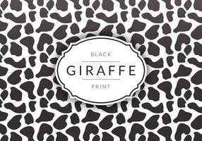 Fondo negro del vector de la impresión de la jirafa