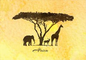 Fondo libre del vector de África