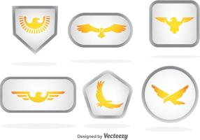 Golden Eagle Badge Vectores