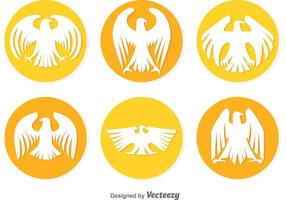 Circular Golden Eagle Vectors