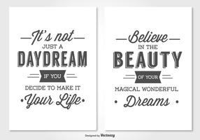 Typographic Card Set vector