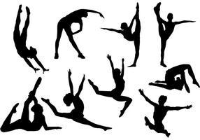 Vector libre de la silueta de la gimnasia