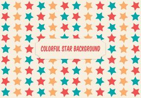 Colorful Star Background Illustration