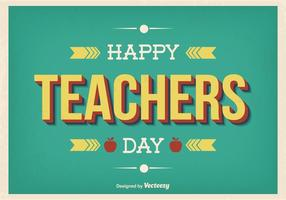 Retro Style Teachers Day Illustration
