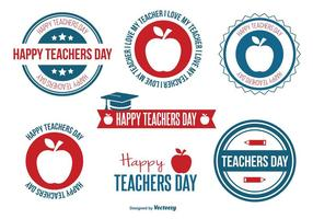 Teacher Day Badge Set