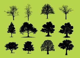 Árboles Silueta Vectores