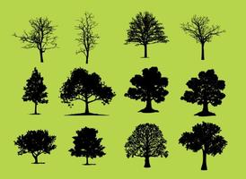 Vetores da silhueta das árvores