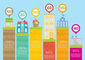 Byggnader Infografiska vektorer