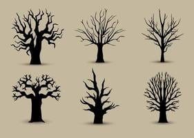 Tree Back Silhouettes vector