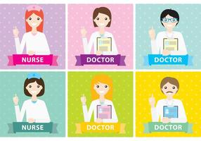 Vecteurs du personnel médical vecteur