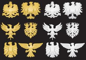 Heraldische Eagle-vectoren