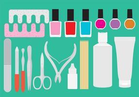 Vettori di strumenti per pedicure manicure