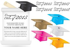 Vecteurs de fond de l'obtention du diplôme