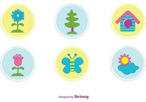 Vector-cute-nature-icons