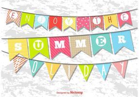Banderines de vacaciones de verano