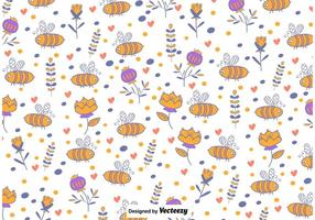 Cute Bee Background vector