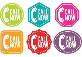 Call Us Now Vector Badges