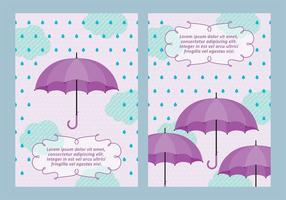Spring Duschar Bakgrund med Paraplyvektorer