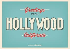 Illustration de salutation vintage hollywood