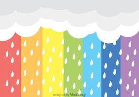 Arco iris lluvia vector