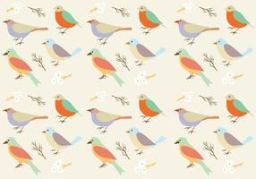 Fondo de patrones de aves vector