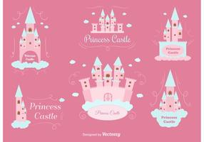 Princess Castle Vector Set
