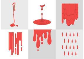 Vetores de gotejamento de sangue
