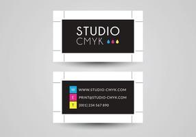 Design de vetor de cartão de visita gratuito para Printery