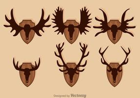 Moose And Deer Hunting Trophy Vectors