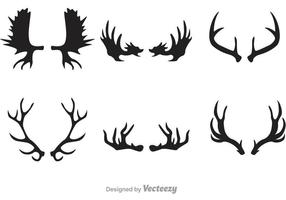 Deer And Moose Horn Vectors